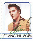 Stamp with Elvis Presley. Stamp with famous singer Elvis Presley Stock Images