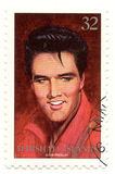 Stamp with Elvis Presley. Stamp with rock and roll singer Elvis Presley Stock Photography