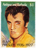 Stamp with Elvis Presley. Famous singer in 1960s Stock Image