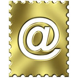 Stamp with email symbol Stock Photo