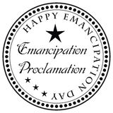 Stamp Emancipation Proclamation Royalty Free Stock Photography