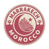 Stamp or emblem with text Marrakesh, Morocco inside. Vector illustration Royalty Free Stock Photo