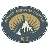 Stamp with text Mount Godwin-Austen, K2 royalty free illustration