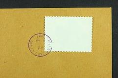 Stamp on envelope stock photos
