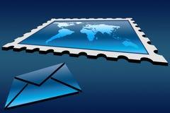 Stamp and envelope. Communication concept stamp and envelope royalty free illustration