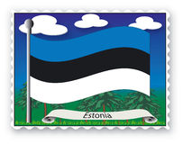 Stamp Estonia Stock Image