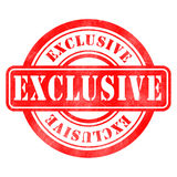 Stamp of Exclusive. Red, round Royalty Free Stock Photography