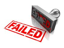 Stamp failed Royalty Free Stock Photos