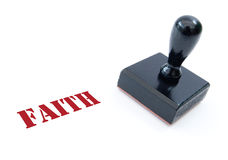 Stamp of faith Stock Photo