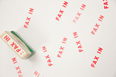 Stamp FAX-IN Royalty Free Stock Image