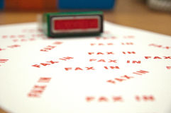 Stamp FAX-IN Stock Image
