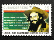 Stamp of Fidel Castro Stock Images