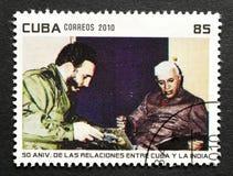 Stamp of Fidel Castro Stock Photography