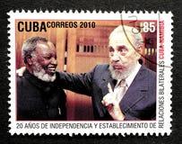 Stamp of Fidel Castro Stock Photos