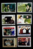Stamp of Fidel Castro Royalty Free Stock Photography