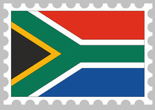 Stamp of a flag of south africa Stock Photo