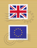 Stamp flag of United Kingdom Royalty Free Stock Image