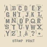 Stamp font sim 2 Stock Images