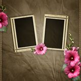 Stamp frames and mawell Royalty Free Stock Photography