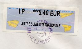 Stamp of France Stock Photos