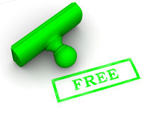 Stamp free. 3d Very beautiful three-dimensional illustration Royalty Free Stock Photo