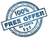 Stamp Free offer 100% Stock Photo