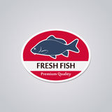 Stamp Fresh Fish Stock Image