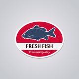 Stamp Fresh Fish Stock Image