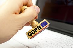 Stamp with gdpr stock photography