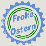 Stamp with German words Happy Easter Royalty Free Stock Photography