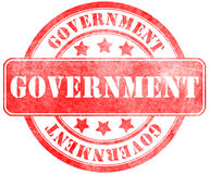 Stamp of Government. Round, red Stock Photo