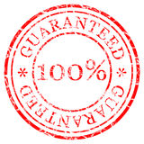Stamp guaranteed Stock Photography