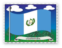 Stamp Guatemala Stock Photography