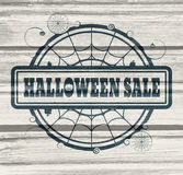 Stamp with Halloween Sale text Stock Photo