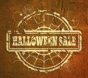 Stamp with Halloween Sale text Stock Photography