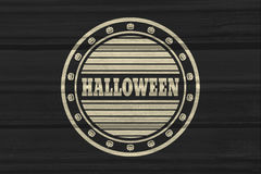 Stamp with Halloween text Royalty Free Stock Photography