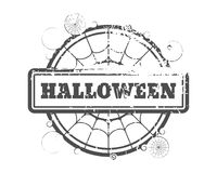 Stamp with Halloween text Stock Image