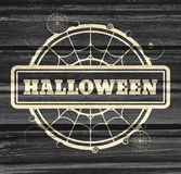 Stamp with Halloween text Royalty Free Stock Image