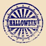 Stamp with Halloween text Stock Photos