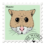 Stamp with hamster Stock Photos