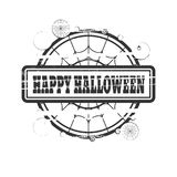 Stamp with Happy Halloween text Stock Photo
