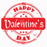 Stamp happy valentine's day Royalty Free Stock Photo