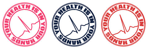 Stamp health Royalty Free Stock Image