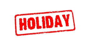 Stamp HOLIDAY  on the white with alpha chanel stock footage