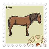 Stamp with horse Royalty Free Stock Photography
