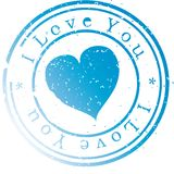 Stamp -I love you-. Stock Image