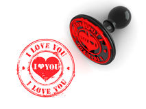 Stamp i love you on white isolated background Royalty Free Stock Photo