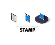 Stamp icon in different style Stock Photos
