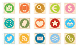 Stamp icon set Royalty Free Stock Photos