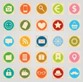 Stamp icon set Stock Images